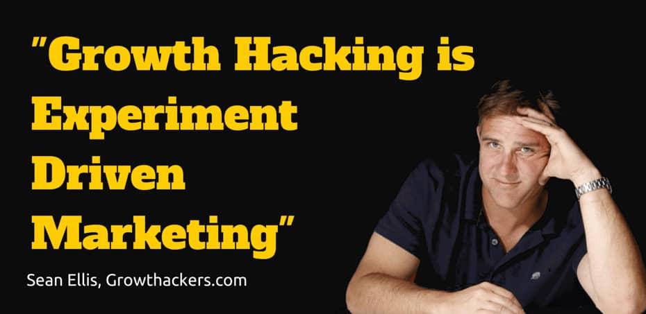 sean ellis growth hacking définition