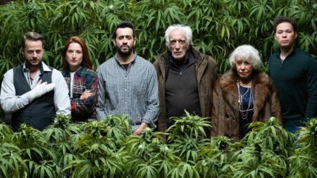 Des acteurs d'un film à propos du cannabis