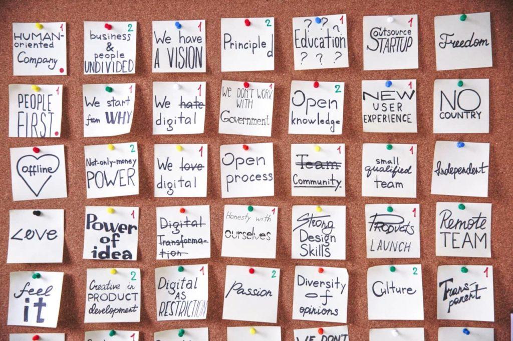 vision board : entreprise