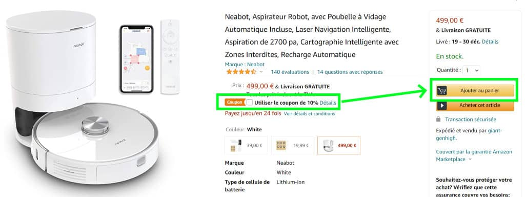 Neabot NoMo coupon amazon 1