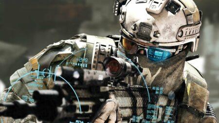 Soldat avec une arme perfectionné
