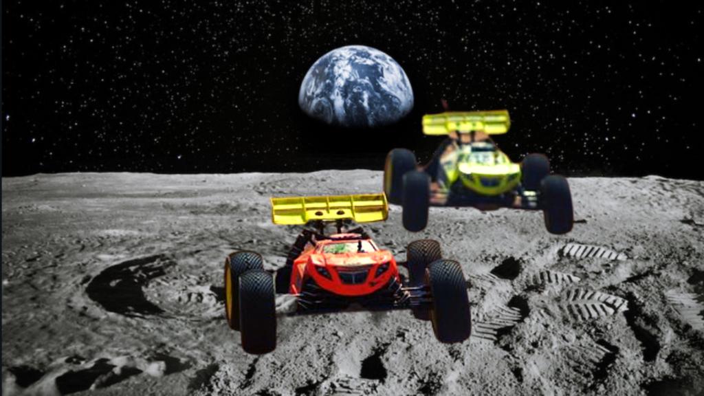 Rovers dans une course lunaire