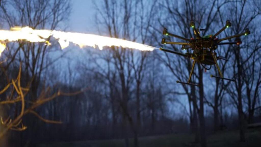 Un drone lance-flammes pour lutter contre les guêpes