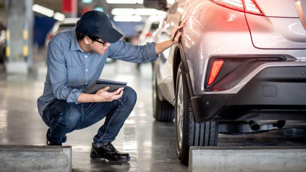 inspection voiture de location