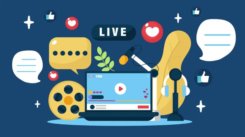 live streaming réseaux sociaux