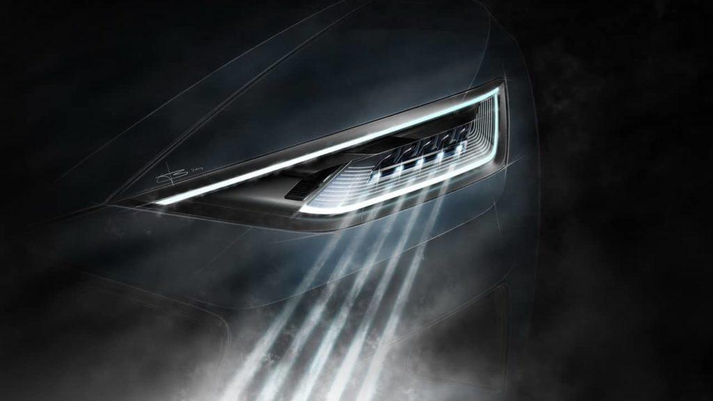phares de voiture laser