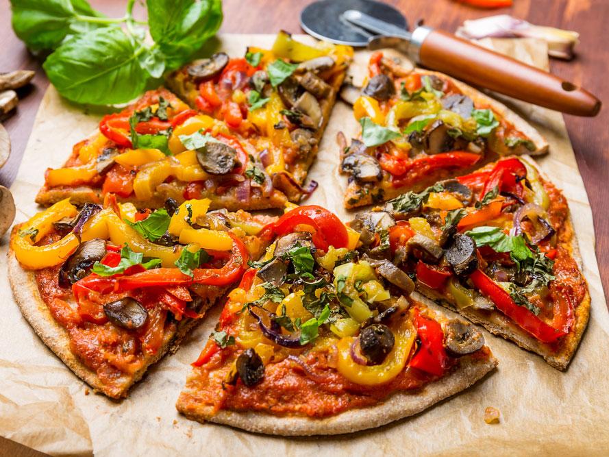 Pizza saine et peu calorique