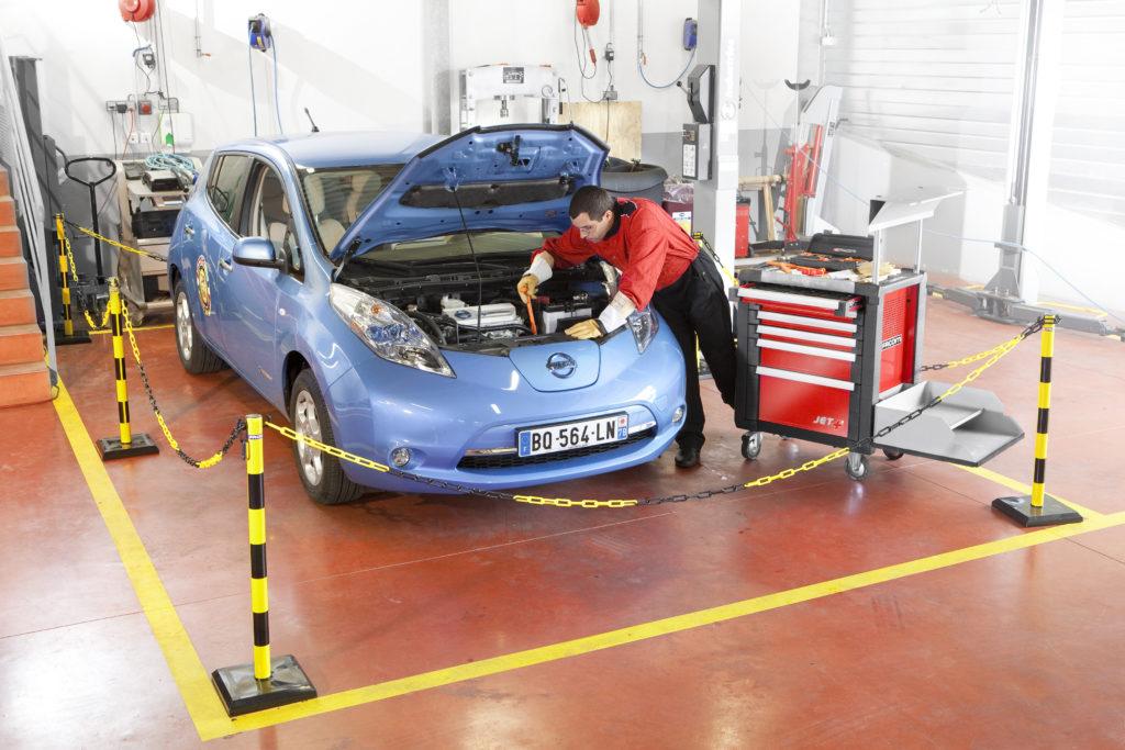 Entretien d'une voiture électrique