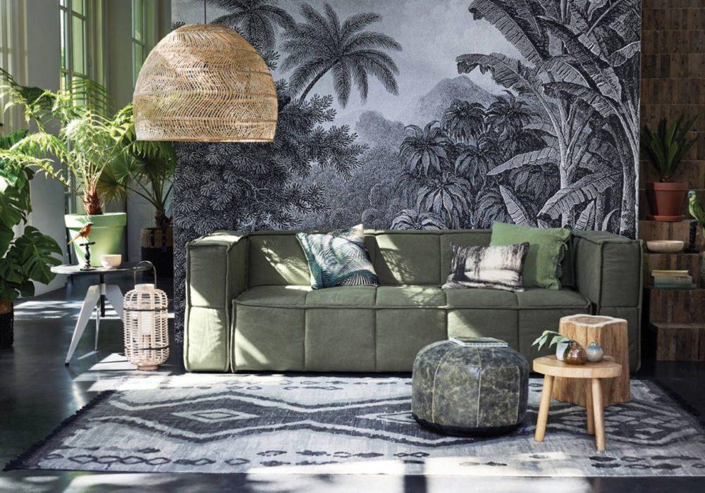Décoration murale motifs tropicaux