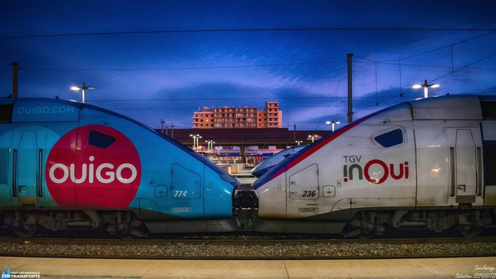 TGV SNCF Inoui vs TGV Ouigo train low cost