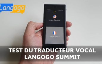 Traducteur vocal Langogo Summit : test, avis et code promo