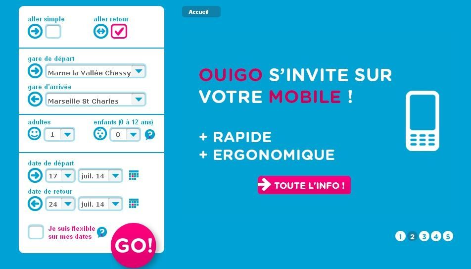 Application Ouigo Mobile