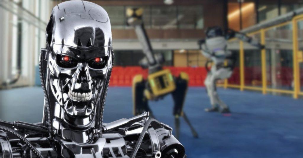 Les robots de Boston Dynamics avec Terminator