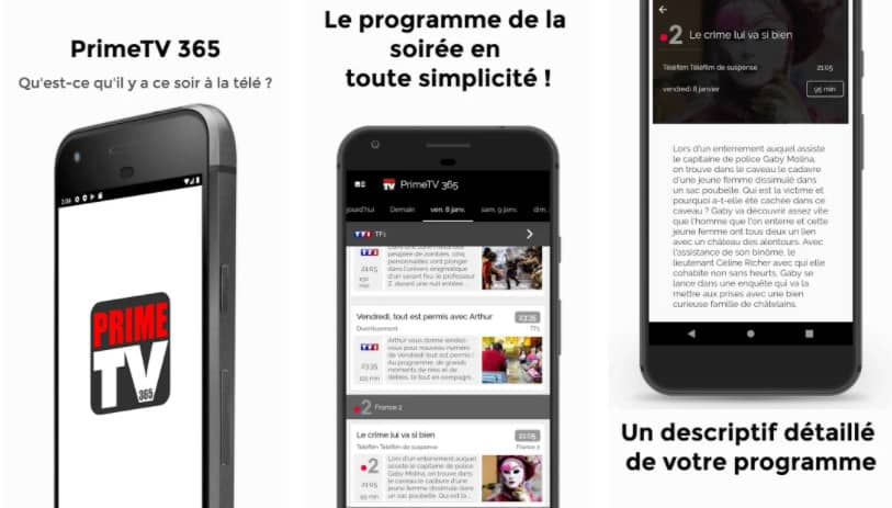 Prime TV 365 : application programme tv android