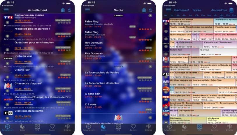 soTV : application programme tv iphone