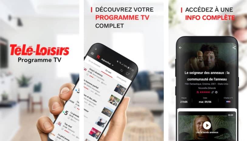 télé loisirs application programme tv