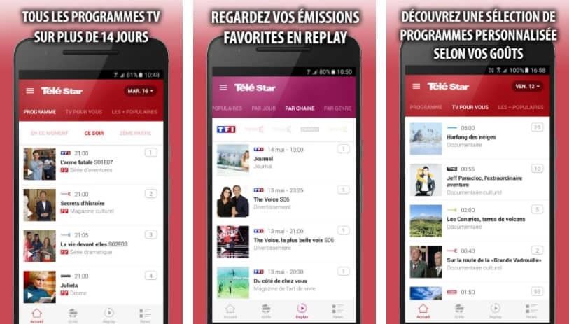 Télé Star : application programme tv