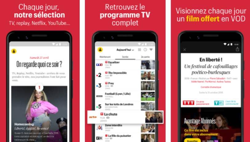 Télérama : application programme tv