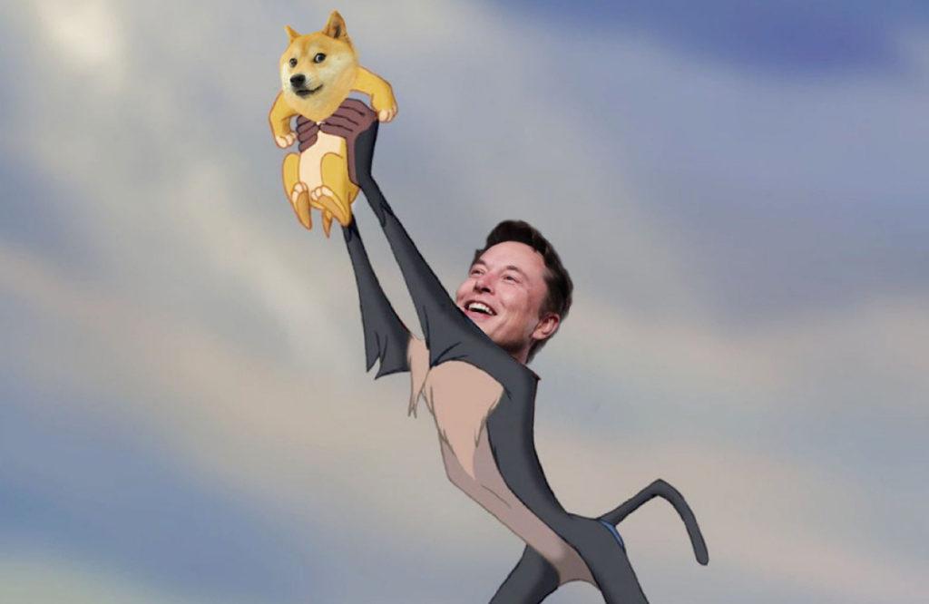 Montage photoshop Elon Musk Dogecoin