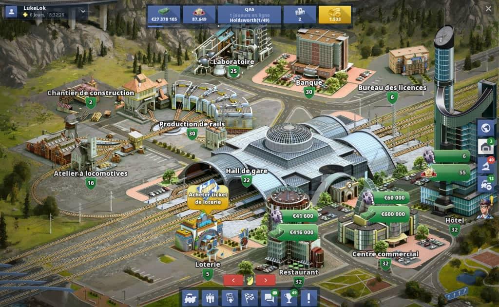 Rail Nation : graphismes du jeu de train en ligne