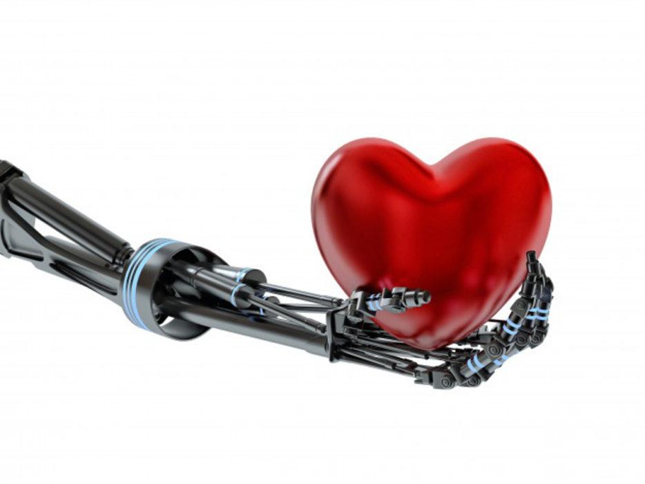Robot tenant un cœur