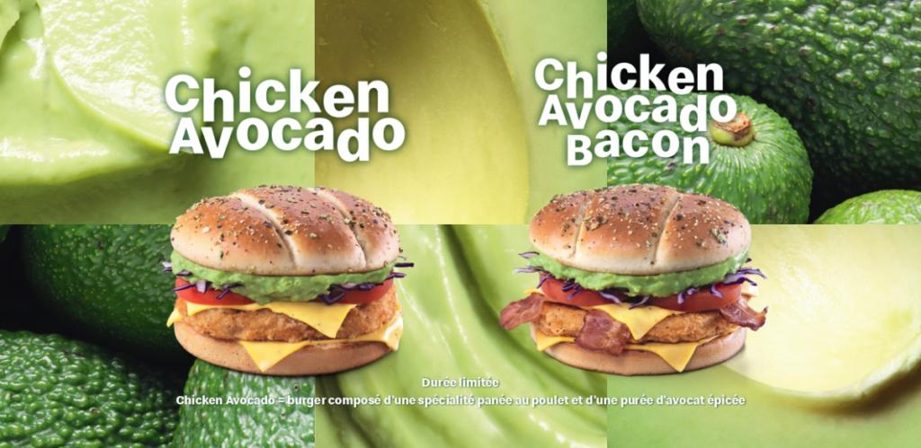 Recette du burger Chicken Avocado