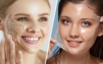 Quelle est la différence entre gommage et peeling du visage ?