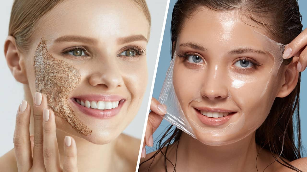 gommage vs peeling visage différences