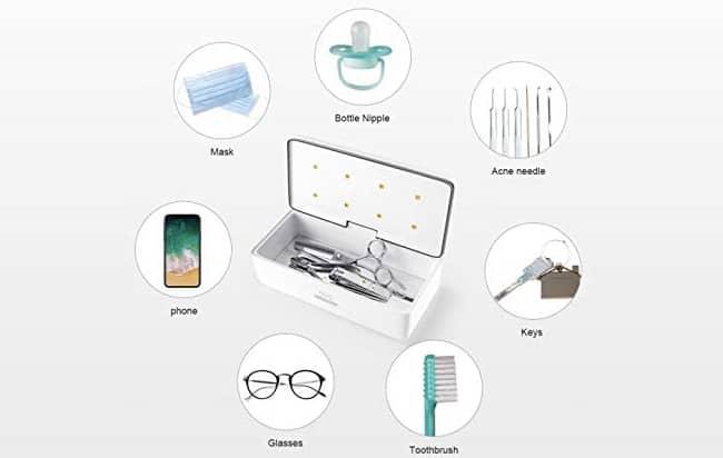 59s s2 : test de la boite de stérilisation uv pour smartphone et objets divers