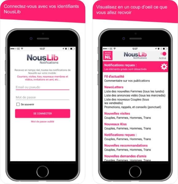 NousLib Notifications application