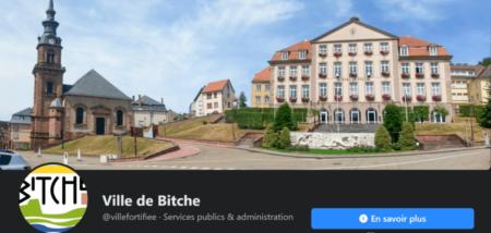 La page Facebook de la ville de Bitche