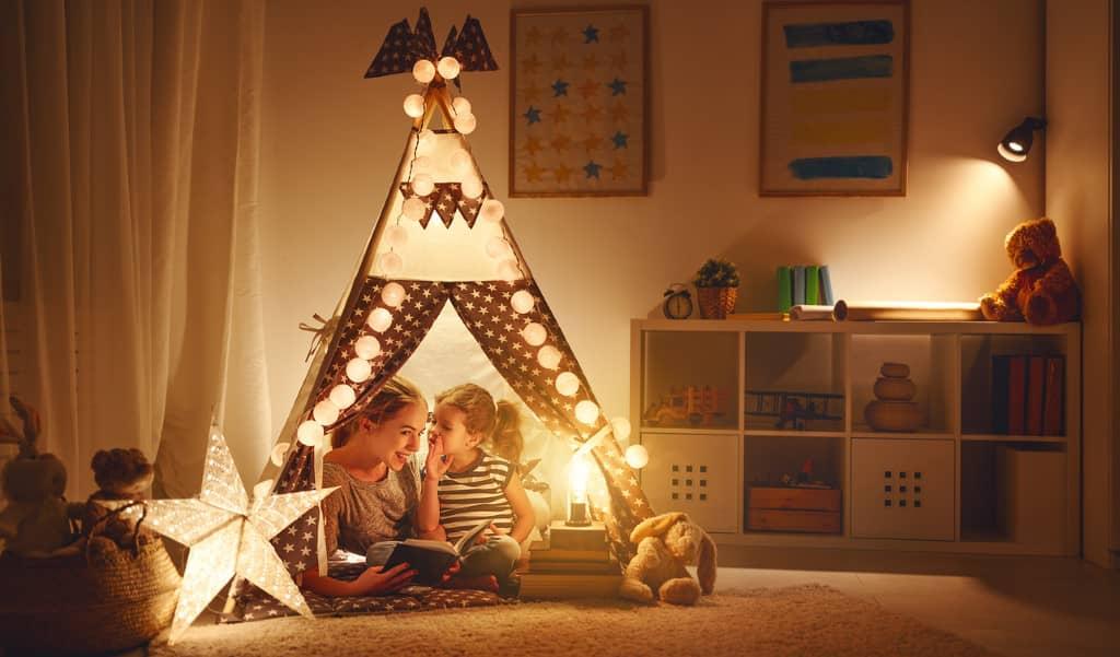 lumière chambre d'enfant