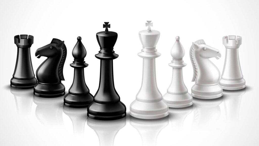 pièces du jeu d'échecs
