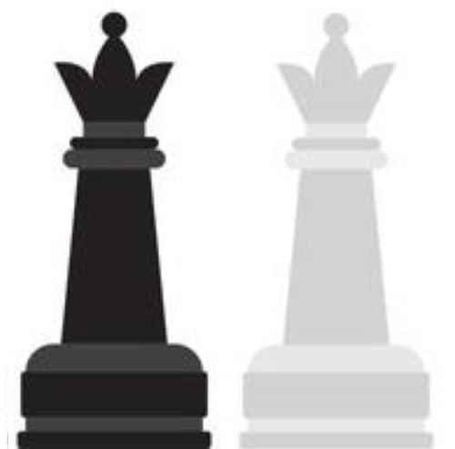 pièces du jeu d'échecs : dame