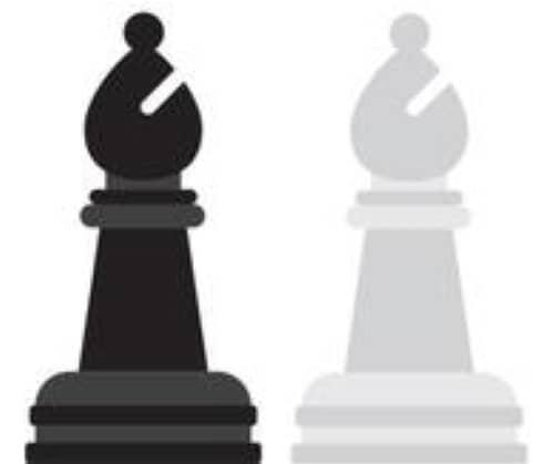 pièces du jeu d'échecs : fous