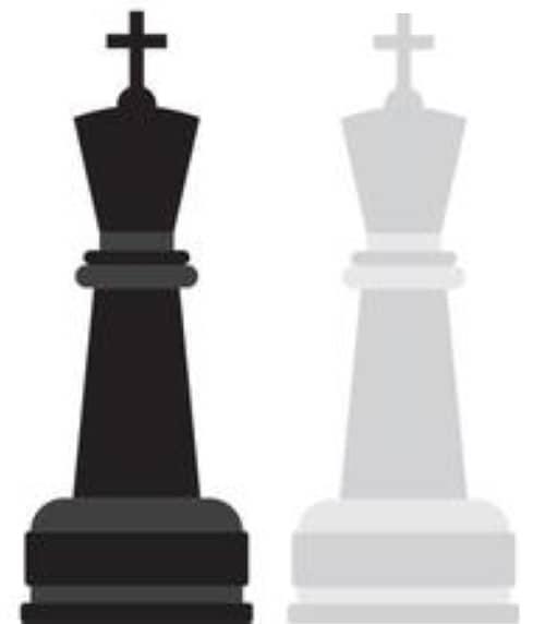 pièces du jeu d'échecs : roi