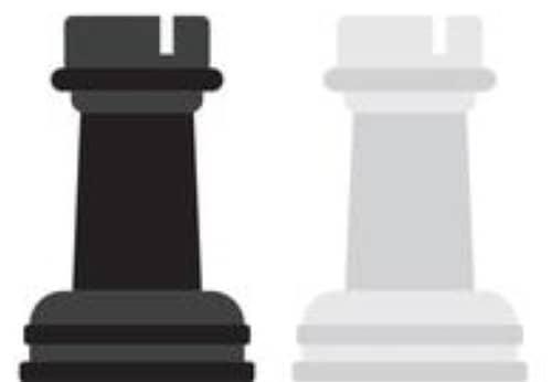 pièces du jeu d'échecs : tours