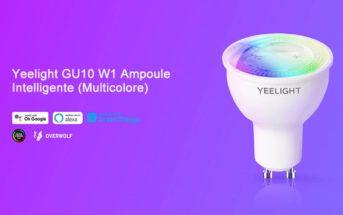 Code promo Yeelight GU10 : ampoule LED intelligente, variable & colorée