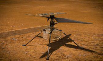 L'hélicoptère Ingenuity sur Mars.