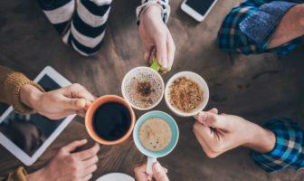 le plaisir de boire du café