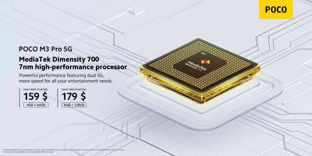 poco m3 pro 5g processeur