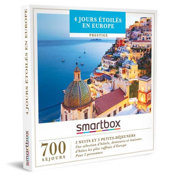 smartbox 4 jours étoilés en Europe