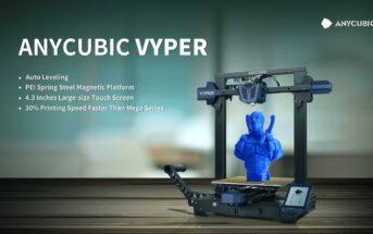 Anycubic Vyper : la nouvelle imprimante 3D FDM à nivellement automatique