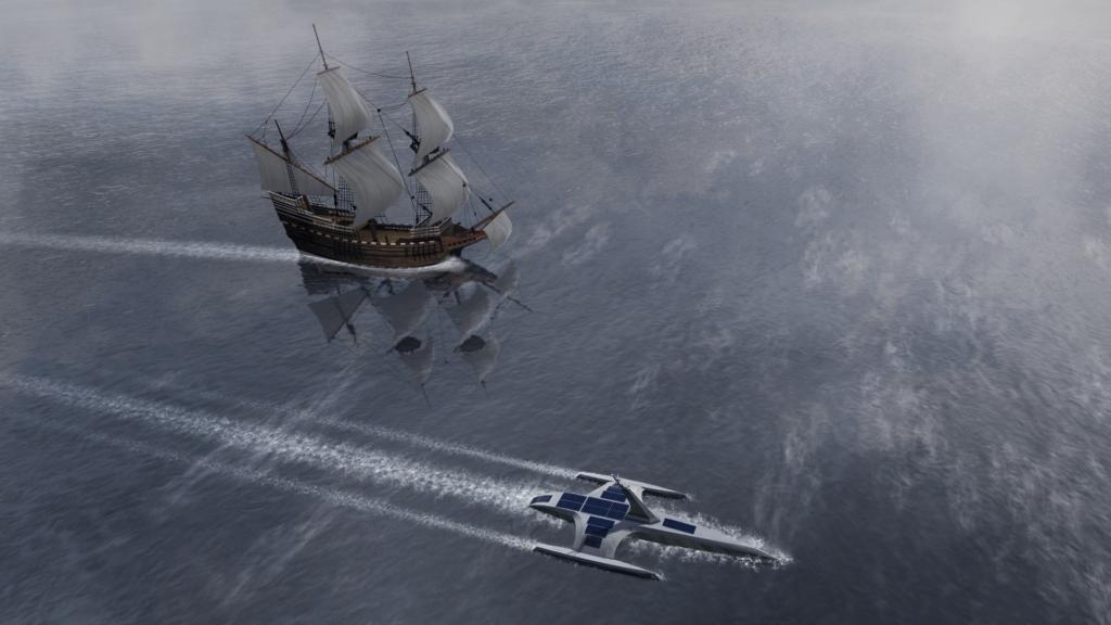Les deux navires Mayflower en image