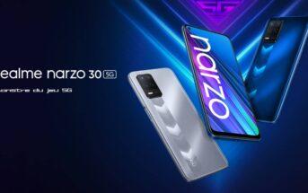 Realme Narzo 30 : le smartphone gaming 5G en promo à 139€