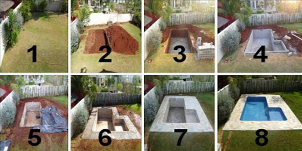 Construire sa piscine soi même : étapes
