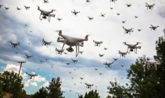 Essaim de drone en image