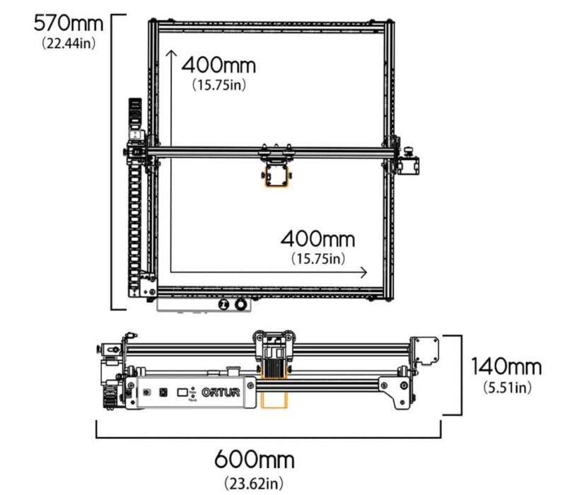 Ortur Laser Master 2 Pro : taille