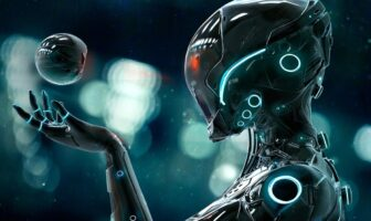 Robot intelligent en pleine réflexion