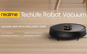 Promo Realme TechLife : l'aspirateur robot en réduction 284€